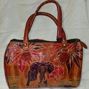 Handbags - *SOLD* AFRICAN Elephant Design Leather Purse